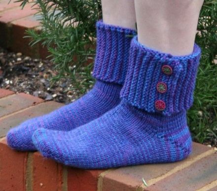 Pirate Boot Socks, Knitting Pattern